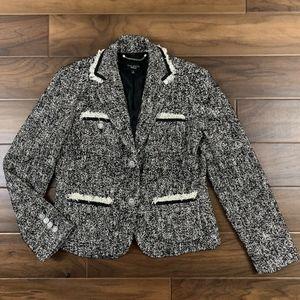 Talbots Marbled Tweed Blazer Jacket